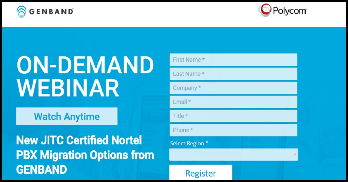 New JITC Certified Nortel PBX Migration Options from GENBAND