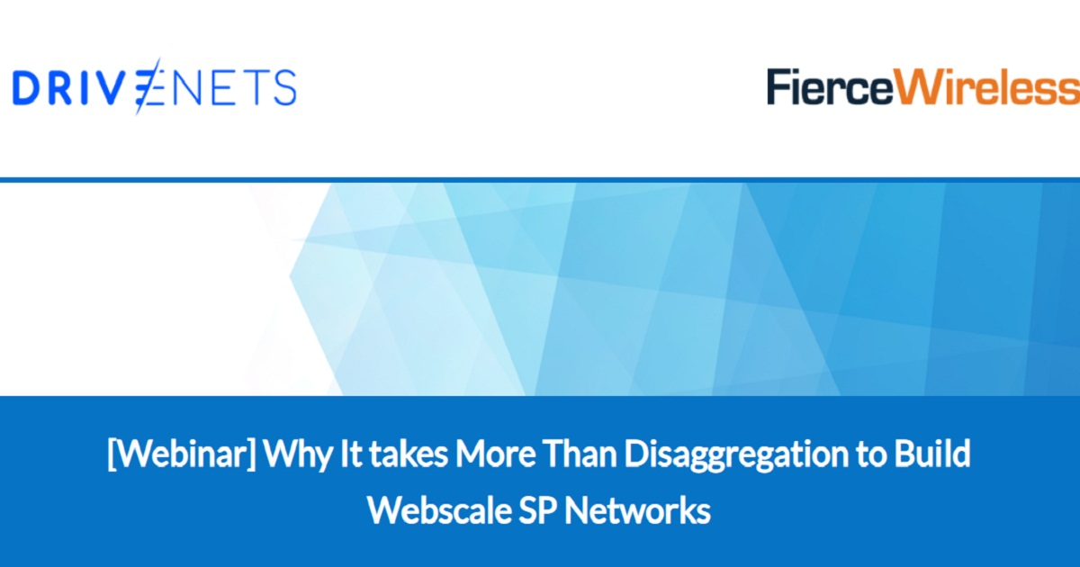 Why It takes More Than Disaggregation to Build Webscale SP Networks