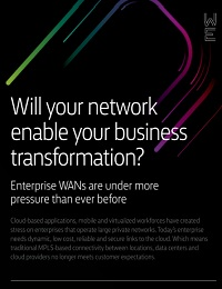 WILL YOUR NETWORK ENABLE YOUR BUSINESS TRANSFORMATION?